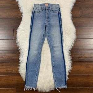Mother Kitty Racer Stunner Ankle Step Fray Jeans